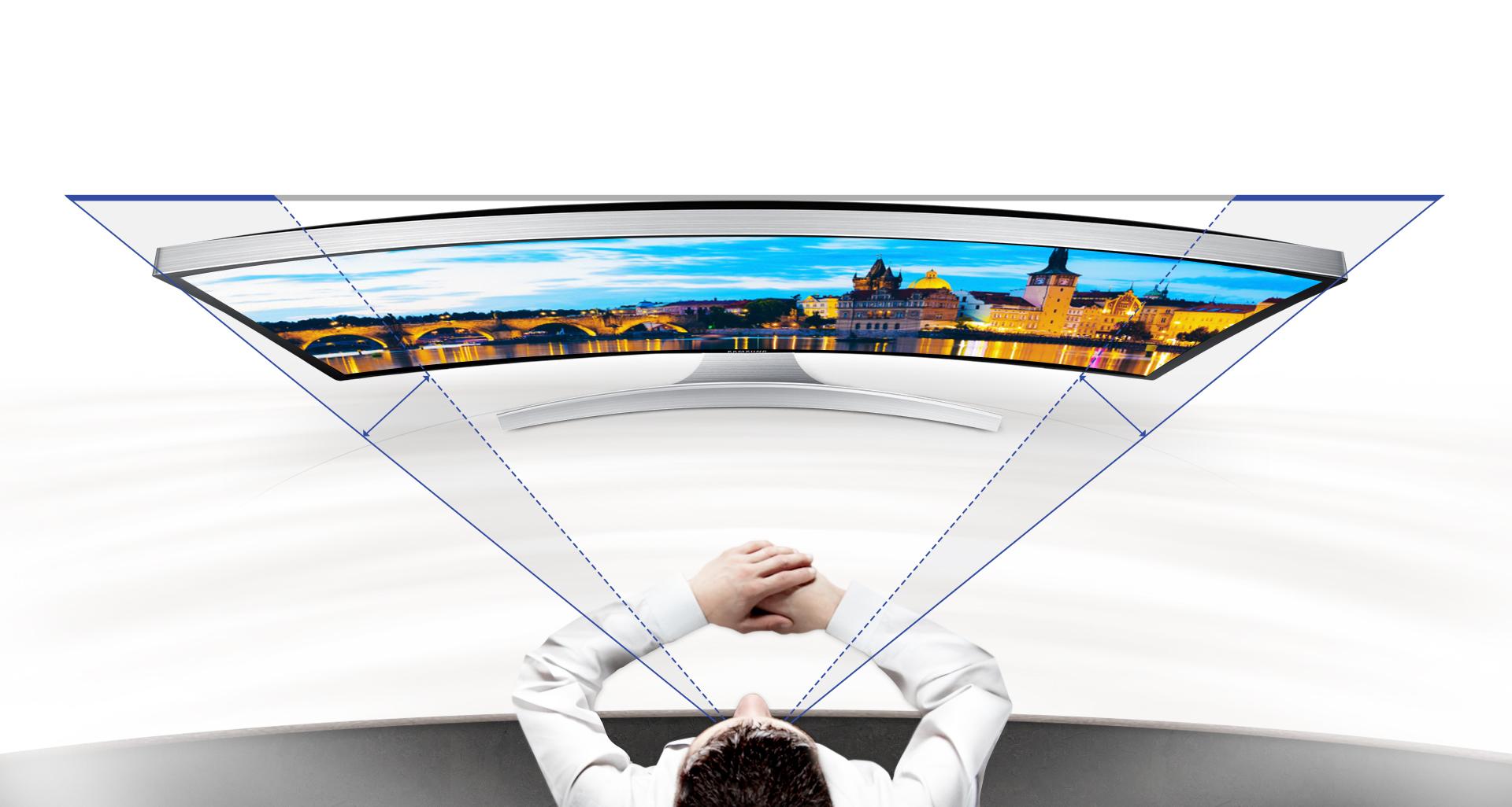 یک صفحه نمایش منحنی شگفت انگیز برای تجربه ای کاملاً فراگیر