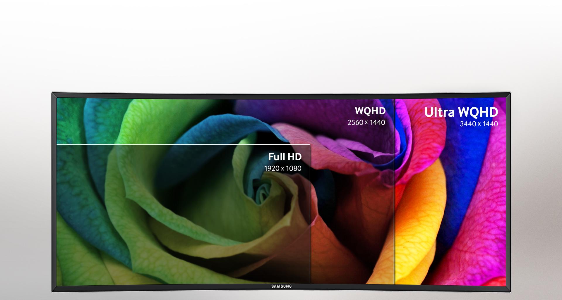 کیفیت تصویر خارق العاده را با صفحه نمایش Ultra WQHD و بهترین نسبت کنتراست موجود در بازار تجربه کنید