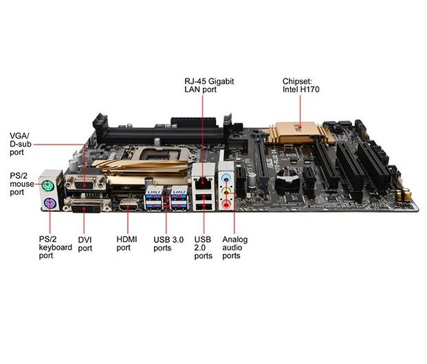 Asus H170-PLUS D3-Motherboard