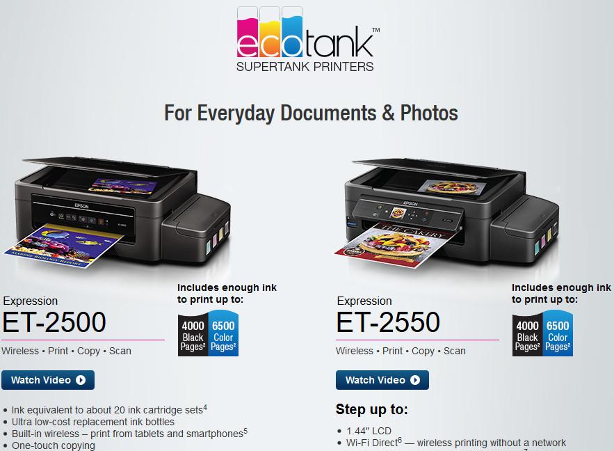 epson ET printer