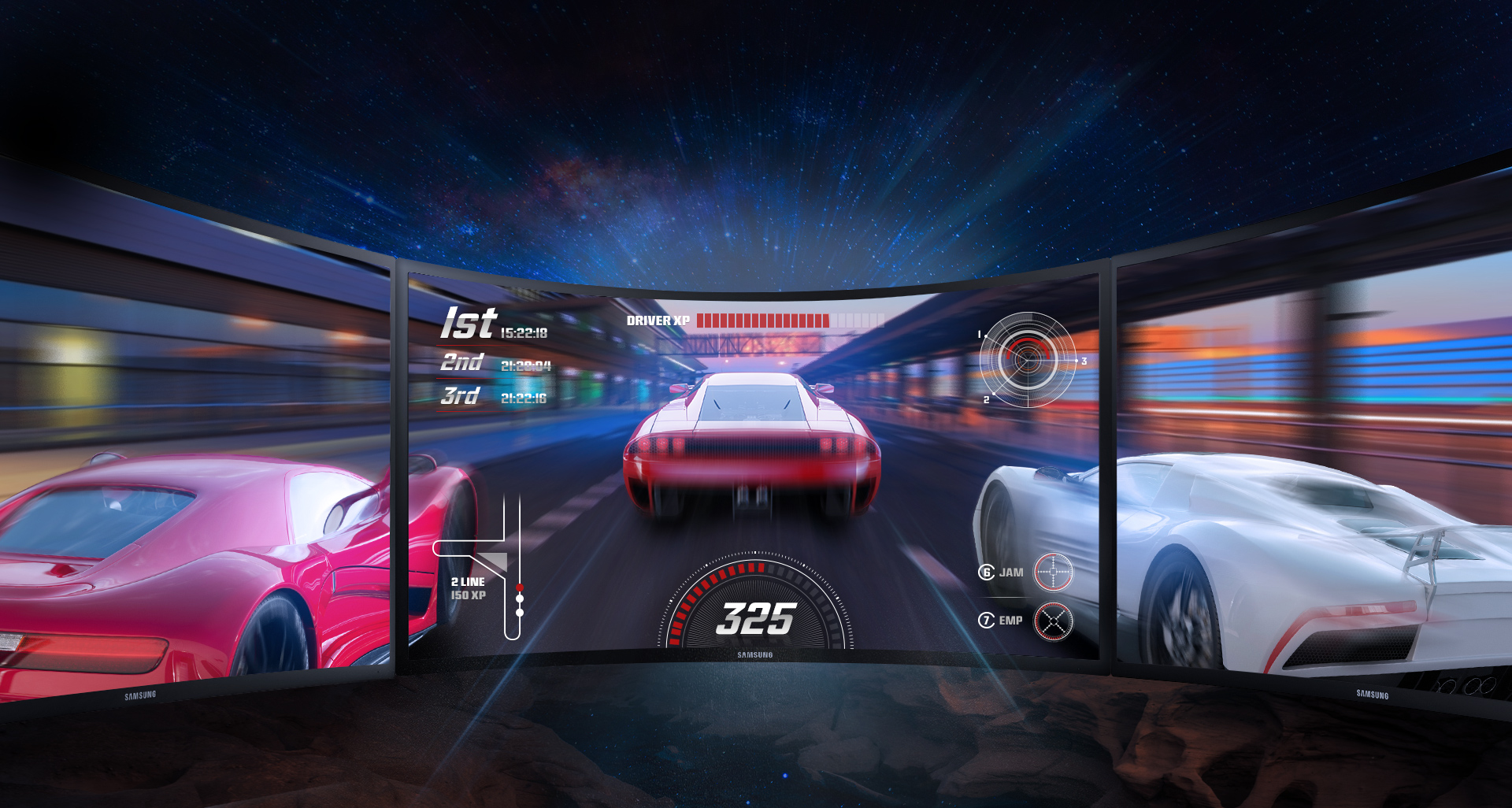 تجربه بازی واقعی که بواسطه صفحه نمایش منحنی حاصل می گردد، شما را غرق در بازی خواهد ساخت