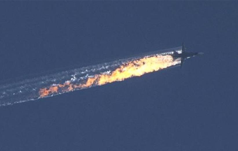 جنگندههای ترکیه، بمبافکن سوخوی ۲۴ روسیه را سرنگون کردند