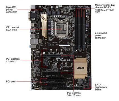 Asus H170 PLUS D3 Motherboard2