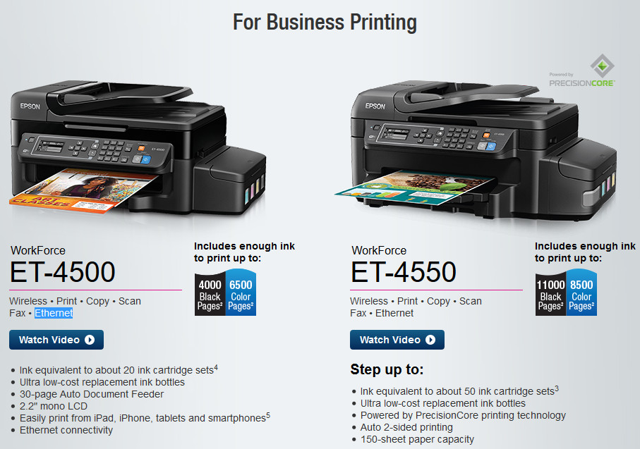 epson ET printer business