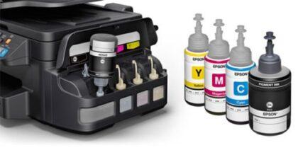 پرینتر چهار کاره رنگی جوهر افشان اپسون مدل L655 چاپ بی سیم
