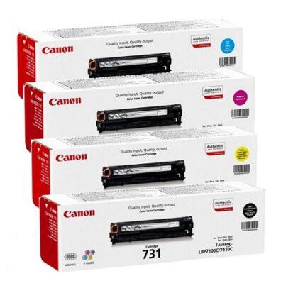 کارتریج تونر ست چهار رنگ غیراورجینال کانن مدل 731 Canon