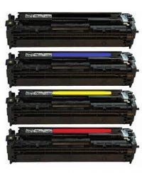 ست کارتریج چهاررنگ پرینترهای اچ پی مدل HP 125A