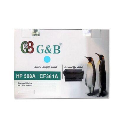 ست کارتریج چهار رنگ جی اند بی مدل HP 508A G&B برای چاپگرهای اچ پی